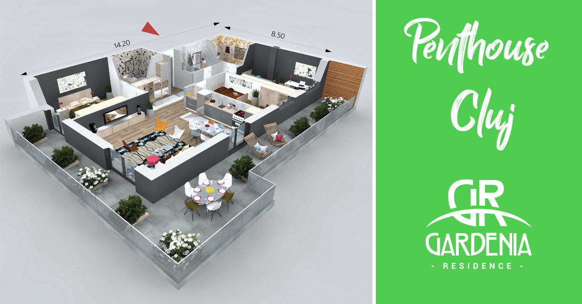 Apartament Penthouse de Vanzare in Gardenia Residence!